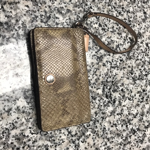 Coach Handbags - Authentic coach snakeskin wristlet